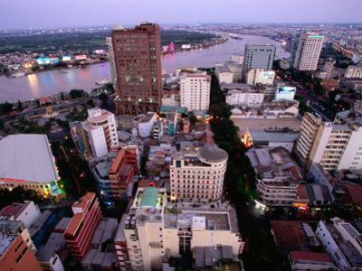 Fashionable Dong Khoi Street Leads to Saigon River District 1, Ho Chi Minh City,  Vietnam