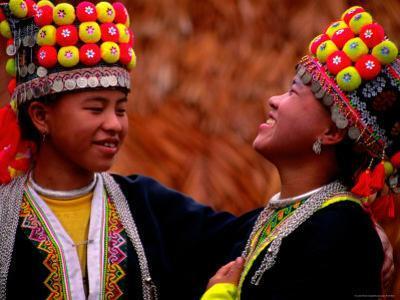 H'mong Girls, Huay Xai, Bokeo, Laos