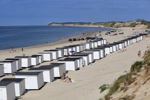 Beach Huts on North Sea Coast, Lokken, Jutland, Denmark, Scandinavia, Europe by Stuart Black