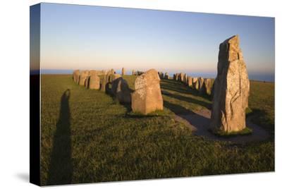 Boat Shaped Standing Stones of Ales Stenar, Kaseberga, Skane, South Sweden, Sweden, Scandinavia
