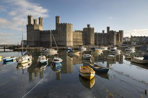 Caernarfon Castle,Unesco World Heritage Site, on the River Seiont by Stuart Black