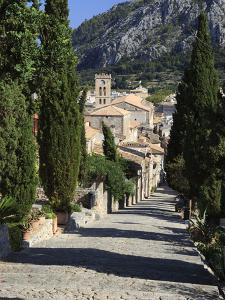 Calvary Steps with View over Old Town, Pollenca (Pollensa), Mallorca (Majorca), Balearic Islands, S by Stuart Black