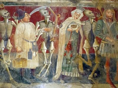 Detail of the Dance of Death Fresco Dating from 1475, Chapel of Our Lady of the Rocks, Beram, Istri by Stuart Black