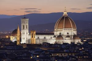 Duomo at Night from Piazza Michelangelo, Florencetuscany, Italy, Europe by Stuart Black