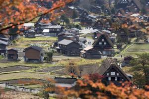 Gassho-Zukuri Folk Houses, Ogimachi Village, Shirakawa-Go, Near Takayama, Central Honshu, Japan by Stuart Black