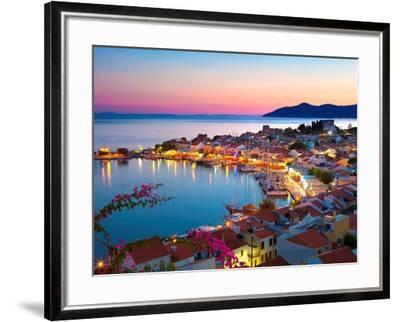 Greek Harbour at Dusk, Samos, Aegean Islands