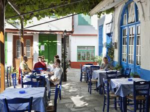 Greek Taverna in Centre of Mountain Village, Vourliotes, Samos, Aegean Islands, Greece by Stuart Black