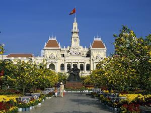 Hotel De Ville (Ho Chi Minh City Hall) Decorated for Chinese New Year, Ho Chi Minh City (Saigon), V by Stuart Black