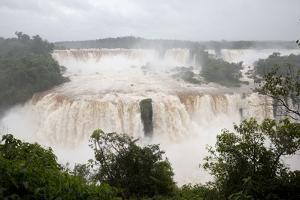 Iguazu Falls from Brazilian side, Iguazu National Park, UNESCO World Heritage Site, Brazil, South A by Stuart Black
