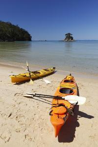 Kayaks on Beach, Torrent Bay, Abel Tasman National Park by Stuart Black