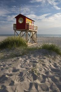 Lifeguard Hut and Sand Dunes, Skanor Falsterbo, Falsterbo Peninsula, Skane, South Sweden, Sweden by Stuart Black