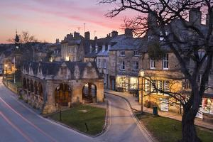 Market Hall and Cotswold Stone Cottages on High Street, Chipping Campden, Cotswolds by Stuart Black