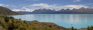 Mount Cook and Lake Pukaki, Mount Cook National Park, Canterbury Region by Stuart Black