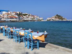 Restaurants on Harbour, Kokkari, Samos, Aegean Islands, Greece by Stuart Black