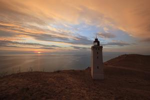 Rubjerg Knude Fyr (Lighthouse) Buried by Sand Drift at Sunset by Stuart Black