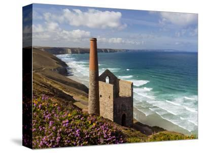 Ruins of Wheal Coates Tin Mine Engine House, Near St Agnes, Cornwall, England