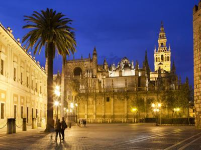 Seville Cathedral (Catedral) and the Giralda at Night by Stuart Black