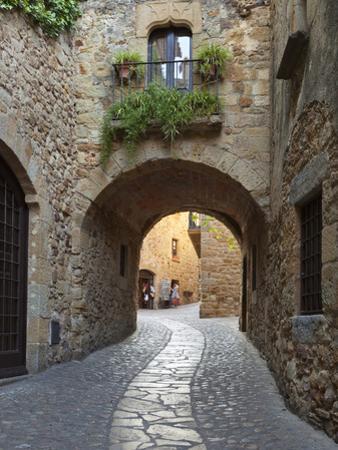 Street Scene in Old Town, Pals, Costa Brava, Catalonia, Spain, Europe by Stuart Black