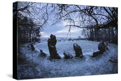 The King's Men in Snow, the Rollright Stones, Near Chipping Norton
