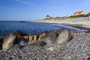 View Along Beach, Gammel Skagen, Jutland, Denmark, Scandinavia, Europe by Stuart Black