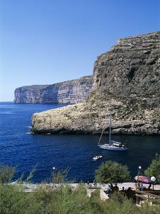View Along Cliffs, Xlendi, Gozo, Malta, Mediterranean, Europe by Stuart Black