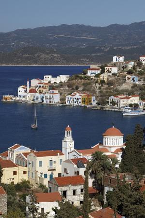 View of Harbour, Kastellorizo (Meis), Dodecanese, Greek Islands, Greece, Europe by Stuart Black