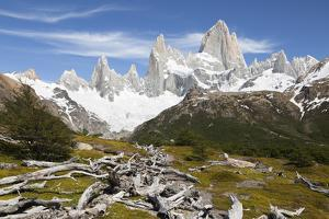View of Mount Fitz Roy on Laguna de Los Tres trail, El Chalten, Patagonia, Argentina, South America by Stuart Black