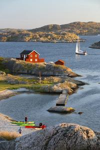 View over Red Swedish House and Islands of Archipelago, Southwest Sweden by Stuart Black