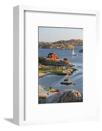 View over Red Swedish House and Islands of Archipelago, Southwest Sweden