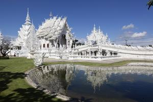 Wat Rong Khun (White Temple), Chiang Rai, Northern Thailand, Thailand, Southeast Asia, Asia by Stuart Black