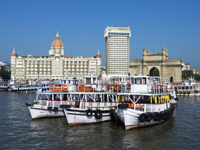Waterfront with Taj Mahal Palace and Tower Hotel and Gateway of India, Mumbai (Bombay), India by Stuart Black