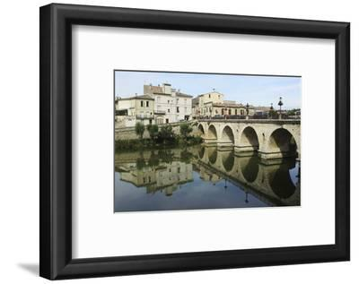 A Roman Bridge, Built in the Reign of the Emperor Tiberius, Spans the River Vidourle at Sommieres