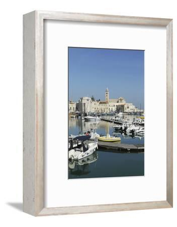 Boats in the Harbour by the Cathedral of St. Nicholas the Pilgrim (San Nicola Pellegrino) in Trani