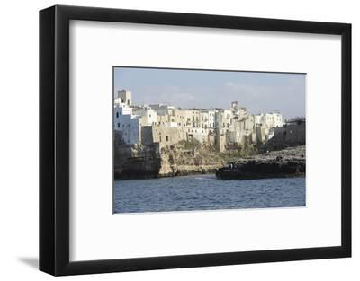 Clifftop Houses, Built onto Rocks, Forming the Harbour of Polignano a Mare