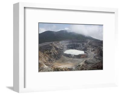 Crater of Poas Volcano in Poas Volcano National Park