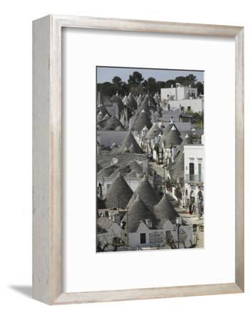 The Cone-Shaped Roofs of Trulli Houses in the Rione Monte District, Alberobello, Apulia, Italy