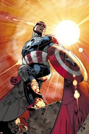 All-New Captain America No. 1 Cover, Featuring: Falcon Cap by Stuart Immonen