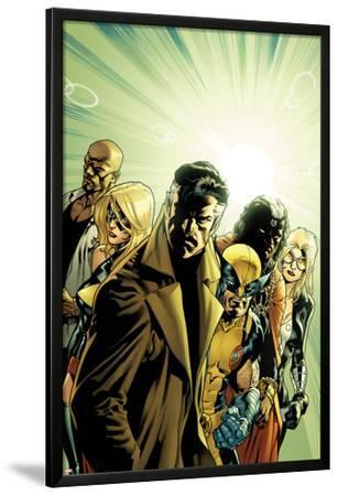 New Avengers No.6 Cover: Dr. Strange, Wolverine, Ms. Marvel, Luke Cage, Doctor Voodoo & Mockingbird