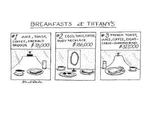 Breakfast at Tiffany's - New Yorker Cartoon by Stuart Leeds