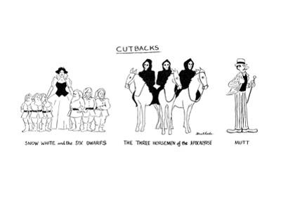 """Cutbacks"" - New Yorker Cartoon by Stuart Leeds"