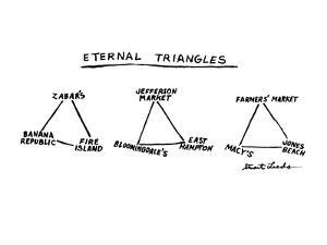 Eternal Triangles: - New Yorker Cartoon by Stuart Leeds