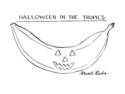Halloween In The Tropics - New Yorker Cartoon by Stuart Leeds