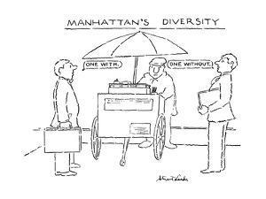 Manhattan's Diversity - New Yorker Cartoon by Stuart Leeds