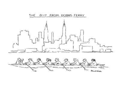 The 8:17 From Dobbs Ferry - New Yorker Cartoon by Stuart Leeds