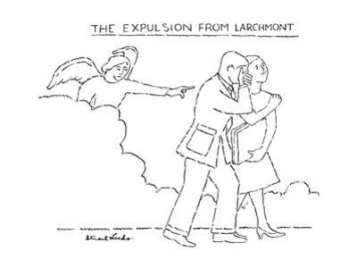 The Expulsion From Larchmont - New Yorker Cartoon by Stuart Leeds