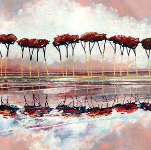 Pink Trees II by Stuart Roy