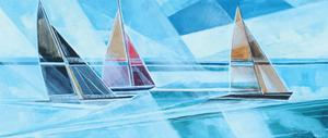 Racing Sailboats by Stuart Roy
