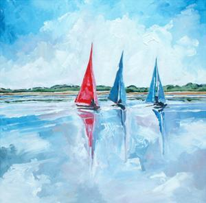 Three Boats by Stuart Roy