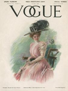 Vogue Cover - April 1908 by Stuart Travis