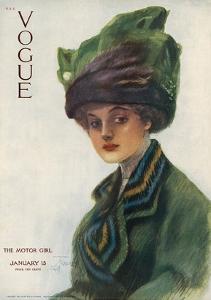Vogue Cover - January 1910 by Stuart Travis